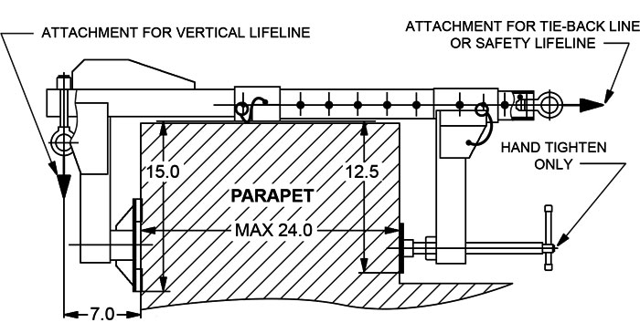 MIO Parapet Clamp Drawing